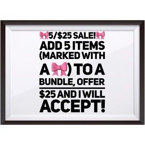 Other - 🎀5/$25🎀 SALE!!!